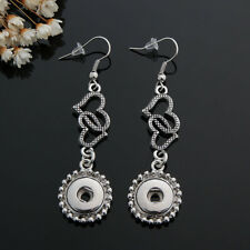 NEW 12MM silver color Drill Earrings Fit For Noosa Charm Snap Button N26