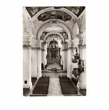 AK Postcard Vineyard/Benedictine Abbey/Baroque church - 1965