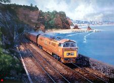 Class 52 D1015 Western Champion John Austin Train Railway Painting Art Print