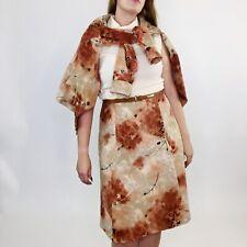 New listing Vintage 60s Mod 2 Piece Corduroy Fit & Flare Dress W/ Blazer Medium Womens