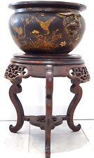 Rare cache pot Auguste MAJORELLE japonisant socle chimères Art nouveau TOUL XIX