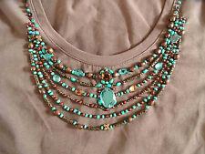 MARGITTES schönes Shirt mit Strass und Perlen braun Gr. 38 TOP(RC 614)
