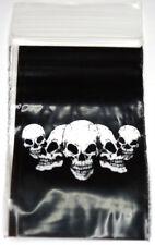 200 pezzi Zip PE Sacchetti 40x60mm con Teschio impresso chiusura a scatto BUSTINA