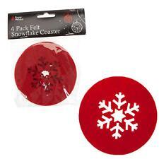 Servizio da tavola di Natale - 4 Confezione Set di sottobicchieri Design a fiocco di neve