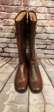 Vintage Moulded Buckle Fully Lined Rubber Heel Boots Women's 8