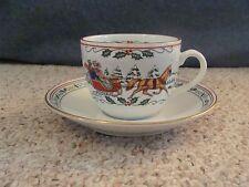 Royal Worcester Village Christmas Cup & Saucer Fine Porcelain Made in England