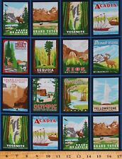 Cotton National Parks Explore America Cotton Fabric Print by the Yard D582.47