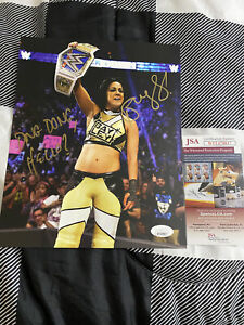 Bayley Signed & Inscribed 8 x 10 - JSA Certified - WWE NXT AEW NWA