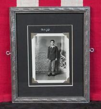"""Vintage 1930s Roller Skating Man Antique Photograph """"Whiff"""" Framed Roller Skate"""