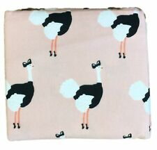 Flannel Sheet Set Peachy Pink Ostrich Queen Bed Size Sheets Bedding