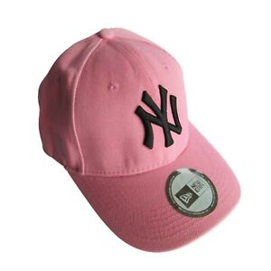 New Era New York Yankees Baseball Cap NEW Pink Black Fitted Hat 9Forty MLB