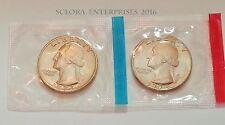 1973 P & D Washington Quarter Coin Set (2 Coins) *MINT CELLO*  **FREE SHIPPING**