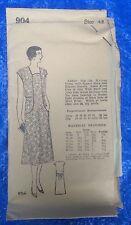 Complete Vintage Original 1920s Flapper Apron Housecoat Sewing 904 sz 42