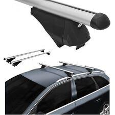 Roof Rack Cross Bars Aerodynamic Aluminum Locking fits Audi A6 Avant 2004 on