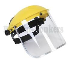 CLEAR SAFETY FACE MASK SHIELD VISOR SPARKS GRINDING STRIMMER GARDEN CUTTING 24A