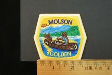 Molson Golden BEER EMBROIDERED IRON-ON PATCH 3x2.75""