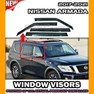 WINDOW VISORS for 2017 → 2022 Nissan Armada / DEFLECTOR RAIN GUARD VENT