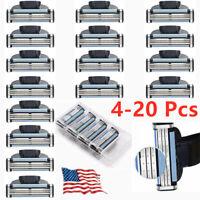 4-20x Replacment for Gillette MACH 3 Male Razor Blades Shaving Cartridges Refill