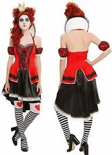 Brand New Hot Topic Alice Inspired Costume Dress Red Queen Themed Design sz M