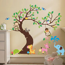 Removable Wall Sticker Monkey Owl Bird Tree Home DIY Decal Decor For Kids Room