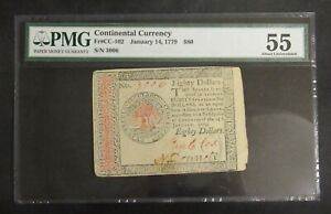 Continental Currency 1779 $80 Colonial Note FR# CC-102 PMG 55