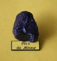 Pin's lapel pin pins du Mineur Mine de bout de charbon graphique plaque jaune 2