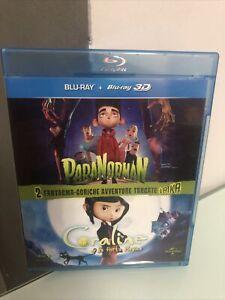 Blu-ray Disc Blu Ray Paranorman + Coraline 3D + 2D Laika 2 Dischi Perfetto