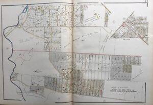 1929 DELAWARE COUNTY, PENNSYLVANIA UPPER DARBY & HAVERFORD, PLAT ATLAS MAP