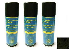 My Secret Hair Enhancer BLACK for thinning hair loss 5 oz - THREE PACK VALUE