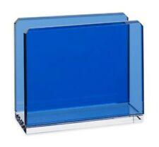 New listing Oleg Cassini Ivito Cobalt Blue Glass Napkin Holder