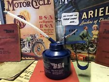 BSA Oil Can Bubble Bath Dispenser Bruce Moore Motorcycle Dealer Hartlepool
