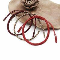 Handmade Knots Lucky Rope Bracelet Men Tibetan Buddhist Love Adjustable Charm