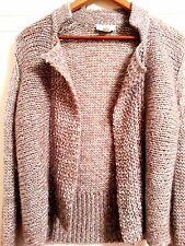 Ann Taylor LOFT Gray Wool/Mohair Blend Wear to Work, Casual Knit Cardigan SIZE S