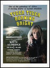 TYGER TYGER BURNING BRIGHT__Orig. 1988 Trade AD / poster__KITTY ALDRIDGE__Tiger