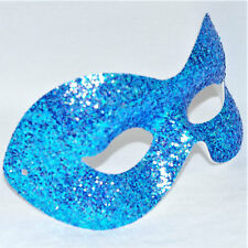 Blue Masquerade Mask Ladies Fancy Dress Carnival Costume Glitter Ball Party