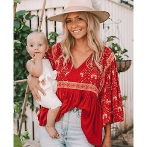 Spell & The Gypsy Collective Jewel Blouse Size M