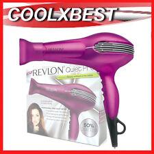Revlon Quiet Pro Hair Dryer Ionic Anti Frizz Cool Shot Professional