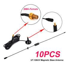 UT-106UV SMA-Female UHF+VHF Magnetic Base Antenna for Portable Radio 888S UV5R