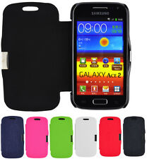 Case for Samsung Galaxy Ace 2 i8160 Leather Imitation Magnetic Flip Protective Cover Bag