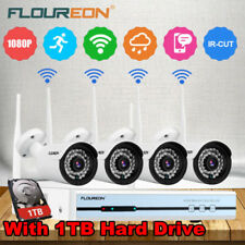 1TB HDD 4CH 1080P CCTV DVR Kits Outdoor WiFi IP Camera Home Security NVR System