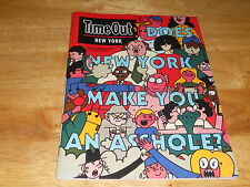 Time Out N Y Mag Leon Edler Cover, NYC A**hole? N JERK City,Tigger, D Arbus 2016