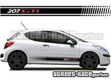 Peugeot 207 015 side racing stripes graphics stickers decals vinyl GTI