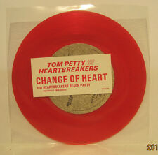 """Tom Petty """"Change of Heart"""" 45rpm NM - RED VINYL Store Stock Backstreet Records"""
