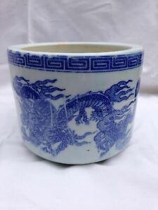 Vintage Dragon Qinghua Brush-Rinsing Pot Brush Pen Wash Pots