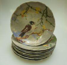 Faïence Set Oiseau Décor de 1880 France CERAMIQUE A DECOR IMPRESSIONISTE