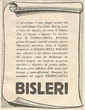 W7276 Ferro-China BISLERI - Pubblicità del 1932 - Old advertising