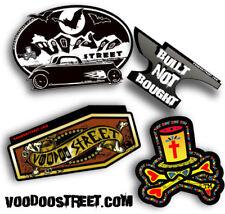 Black Voodoo Street logo print Hot rod bandana Free sticker. 54cm New