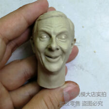 1/6 scale Blank Custom Head Sculpt Mr. Bean Rowan Atkinson Unpainted shock face