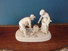 Joli biscuit Couple de paysans - Epoque fin XIXe