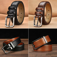Leather Belt Buckle Pin Men  Waistband New Casual Genuine Belts Business